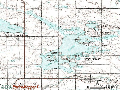 The Lakes topographic map