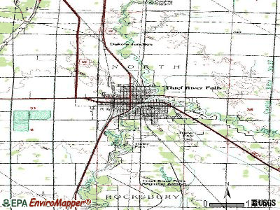 Thief River Falls topographic map