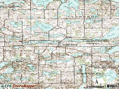 Underwood topographic map