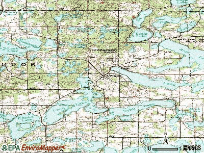 Vergas topographic map