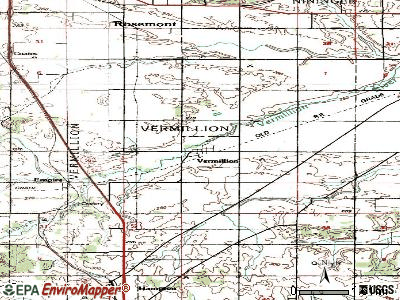 Vermillion topographic map
