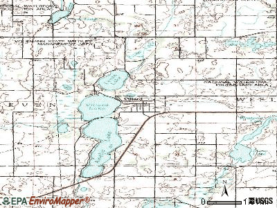 Villard topographic map