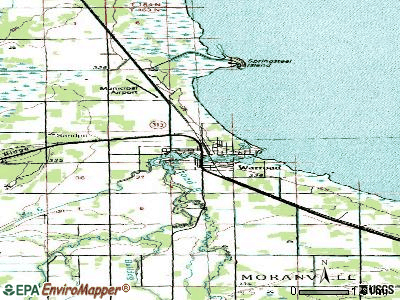 Warroad topographic map