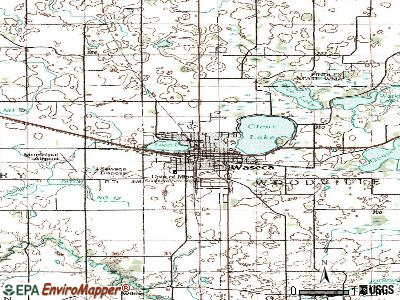 Waseca topographic map