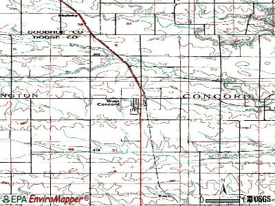 West Concord topographic map