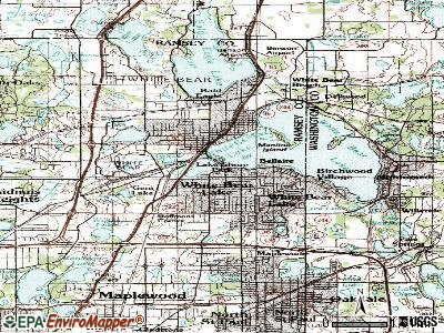 White Bear Lake topographic map