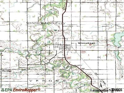 Winnebago topographic map