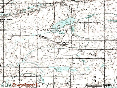 Wood Lake topographic map