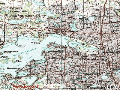 Woodland topographic map