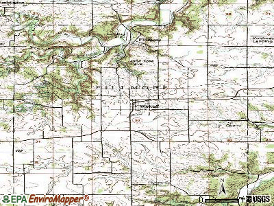 Wykoff topographic map
