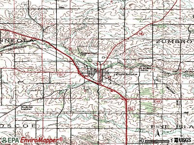 Zumbrota topographic map