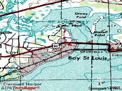 Bay St. Louis topographic map