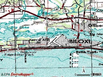 Biloxi topographic map