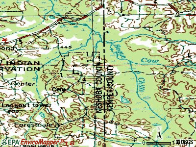 Bogue Chitto topographic map