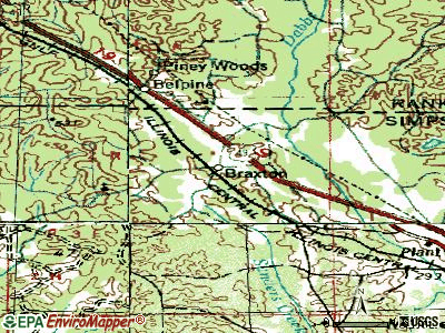 Braxton topographic map
