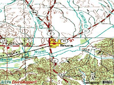 Bruce topographic map