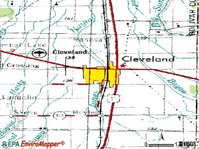 Cleveland topographic map