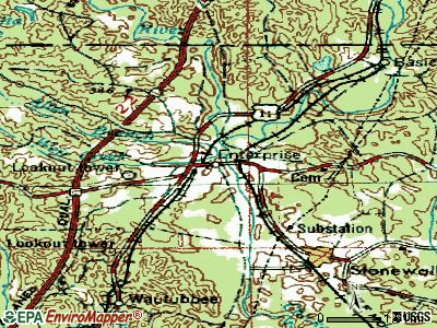 Enterprise topographic map