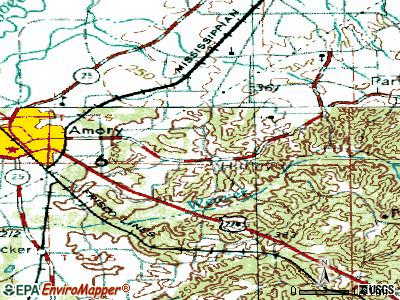 Hazlehurst topographic map