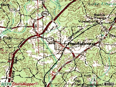 Heidelberg topographic map