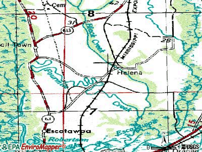 Helena topographic map