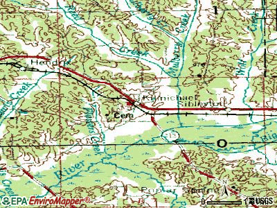 Kilmichael topographic map