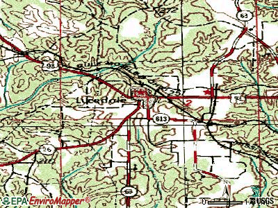 Lucedale topographic map