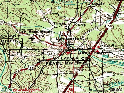 Lumberton topographic map