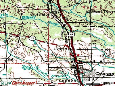 Lyman topographic map