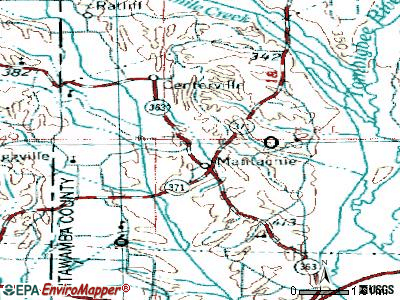 Mantachie topographic map