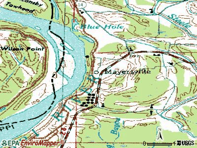 Mayersville topographic map