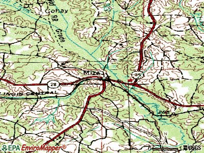 Mize topographic map