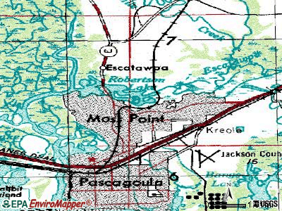 Moss Point topographic map