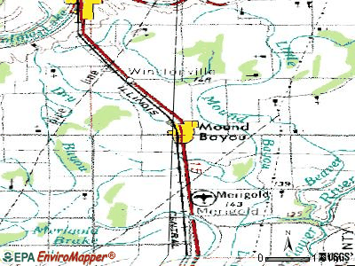 Mound Bayou topographic map