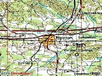 Newton topographic map