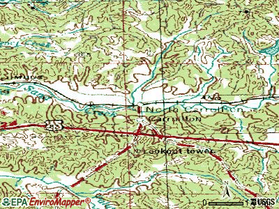 North Carrollton topographic map