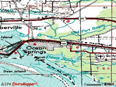 Olive Branch topographic map