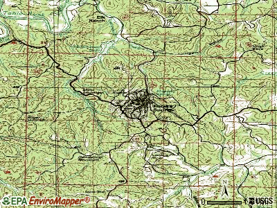 Eureka Springs topographic map