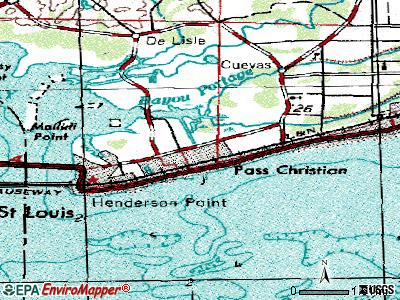 Pass Christian topographic map