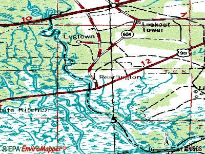 Pearlington topographic map