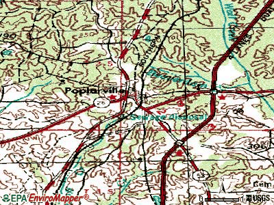 Poplarville topographic map