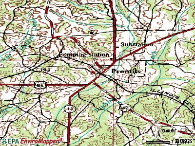 Prentiss topographic map