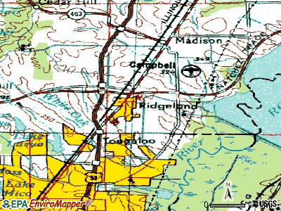 Ridgeland topographic map