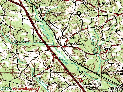 Seminary topographic map