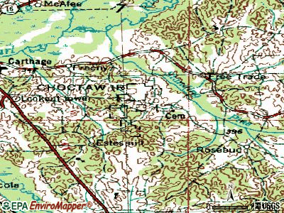 Standing Pine topographic map