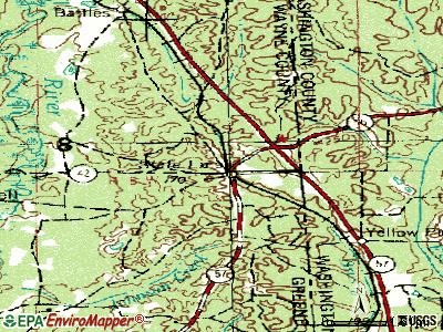 State Line topographic map