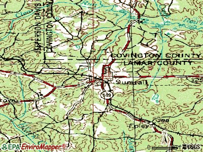 Sumrall topographic map