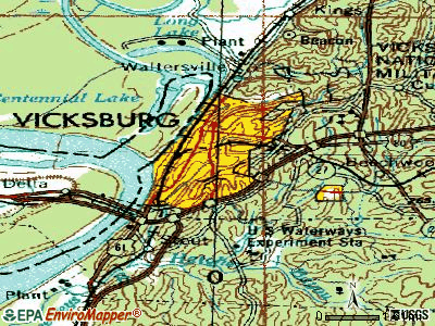 Vicksburg topographic map