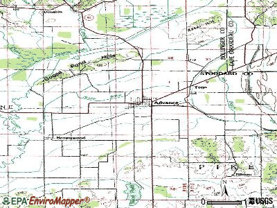 Advance topographic map