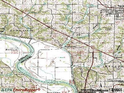 Amazonia topographic map